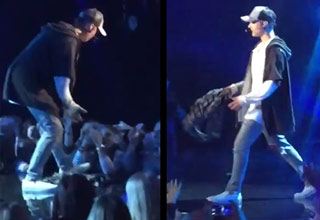 Justin Bieber Storms Off Stage D