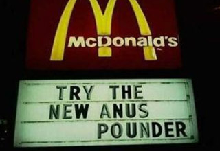 34 Funniest Fast Food Signs Of All Time