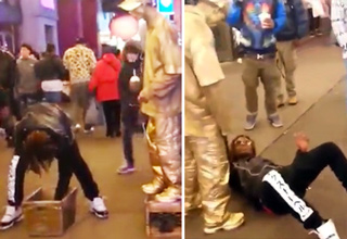 Justice Served On Man Trying To Rob Street Performer