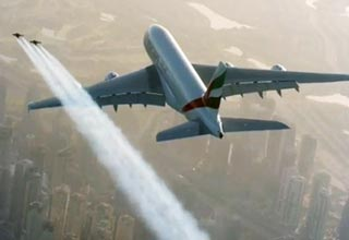 Men With Jetpacks Chase A Jumbo Jet Over Duba