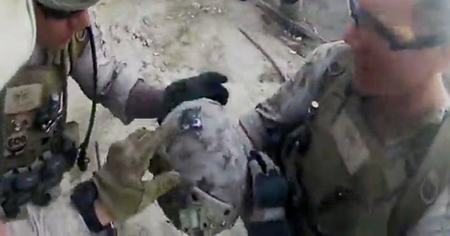 Helmet Saves Soldier's Life From Sniper Shot