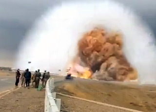 Terryifying Car-Bomb Shockwave Caught On Camera