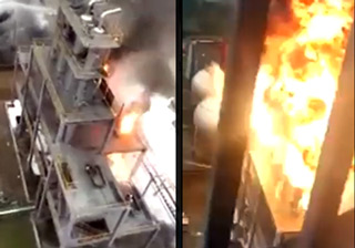 Gigantic Explosion at Chinese Chemical Plant