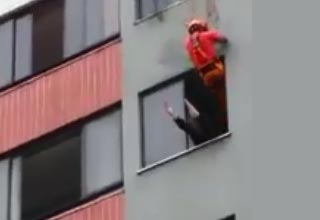 Fireman Saves A Suicidal Woman By Drop-Kicking Her In the Face