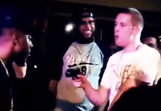 Guy Pulls Fake Gun During Rap Battle
