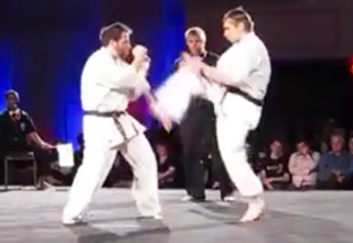 Karate Surprise Flip Kick Knockout
