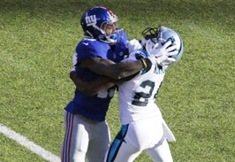 Odell Beckham Jr. Delivers A Brutal Helmet To Helmet Late Hit.