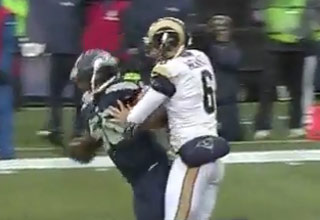 Rams Punter Gets Punked After A Cheap Hit