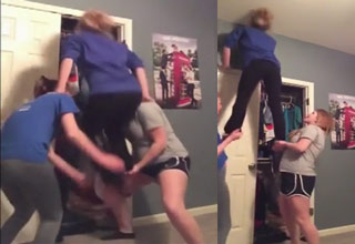 Cheerleading Practice Goes Way Wrong