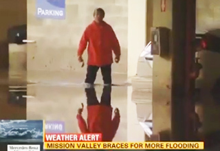 Man Has Bad Day During Flood In L.A.
