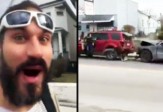 Stoner Hilariously Comments On An Accident Seconds After It Happens