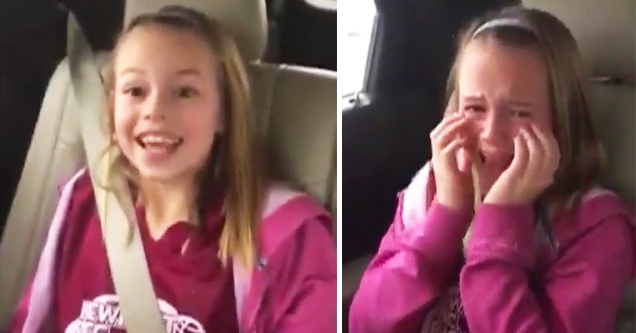 9-Year-Old Girl Can't Contain Her Excitement About Seeing Donald Trump