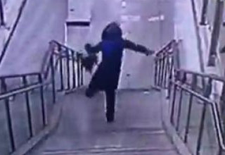 woman falling down stairs 2