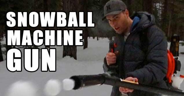 How To Builds A Snowball Machine Gun