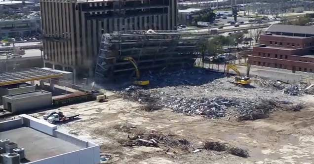 Parking Garage Demolition Goes Horribly Wrong
