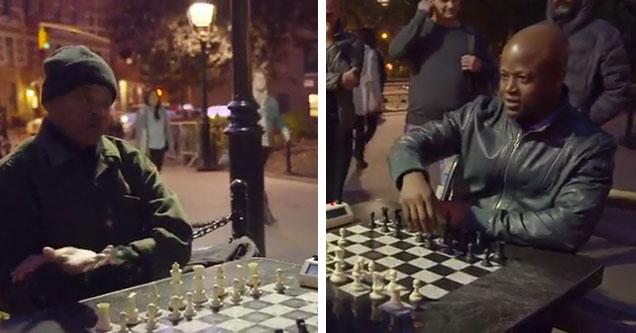 Chess Grandmaster Schools Trash-Talking Old Man in Park