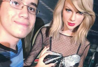 funny picture of fan groping hoverhand taylor swift