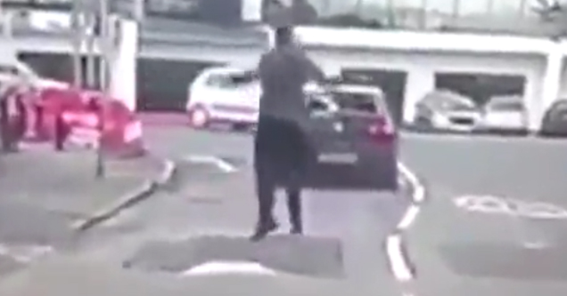 Car Deliberately Hits Guy Then Gets Instant Karma