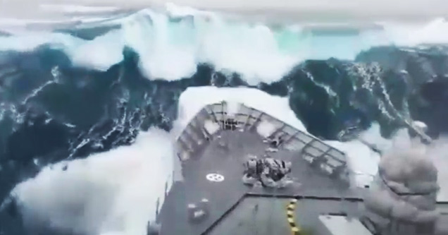 Cruise Ship Hit By Foot Waves During Storm Wow Video - Giant wave hits cruise ship