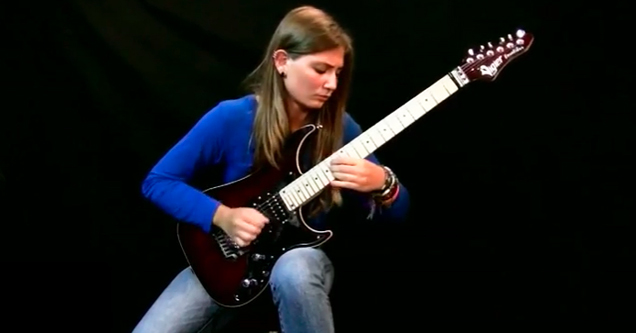 teenage girl shreds through beethoven on electric guitar wow video ebaum 39 s world. Black Bedroom Furniture Sets. Home Design Ideas