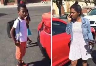 Resultado de imagen para Terrible Mother Freaks Out When Her Son Accidentally Door Dings Another Car