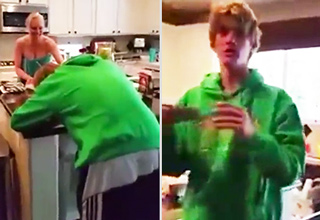 Kid Has Awesome Reaction To Winning Fake Lottery Scratcher