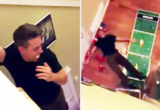 Drunk Guy KO's Himself With Second Floor Beer Pong Dunk