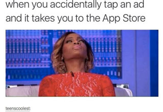 App store accidental click meme