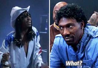 Dave Chappelle and Charlie Murphy in the famous Rick James skit