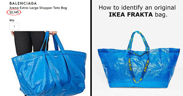 ikea trolls french fashion company for copying their bag and selling it for 2145 facepalm. Black Bedroom Furniture Sets. Home Design Ideas