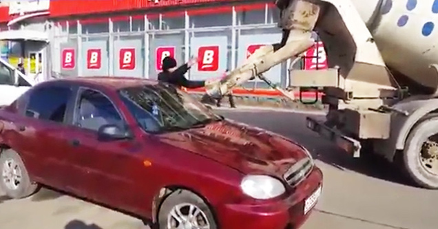 Girl Gets Dent Out Of Car With Dildo