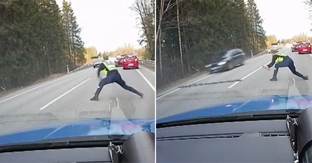 No getting away from the world's fastest cop!
