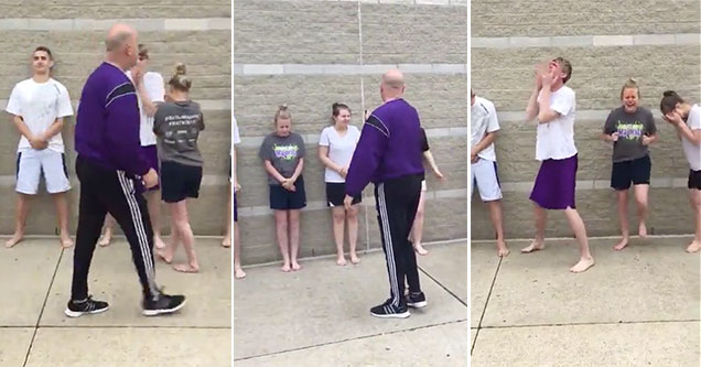 Ohio teens gets sprayed for science.
