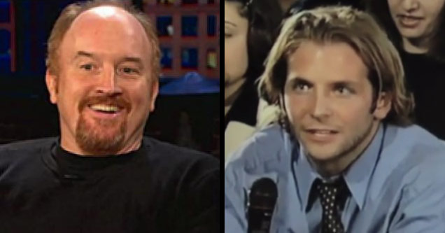 comedian louis ck and a young Bradly cooper