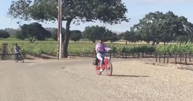 kendal jenner eats shit on her bike