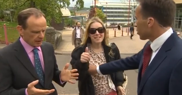 bbc reporter grabs a woman's breast on live TV