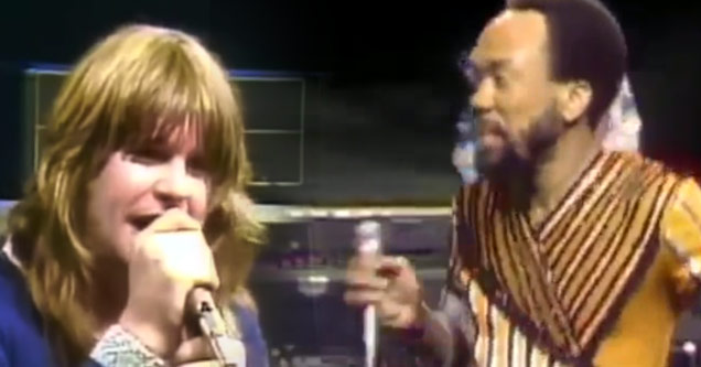Ozzy Osbourne and Earth, Wind & Fire on stage