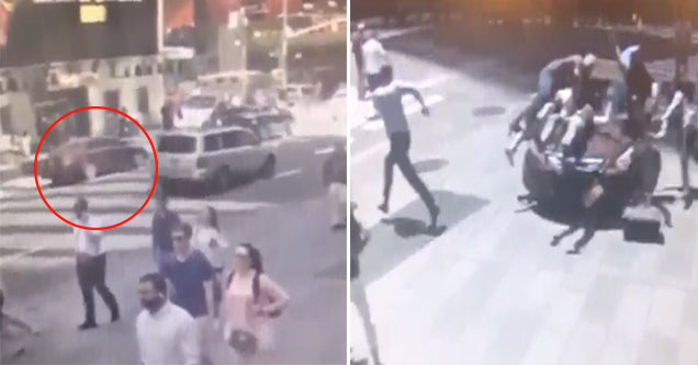 cctv footage of the car attack in times square
