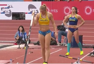 Woman pole Vault competition fixed thumb