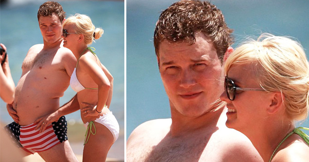 Chris Pratt and Anna Faris - interesting celebrity pics - natural thumb