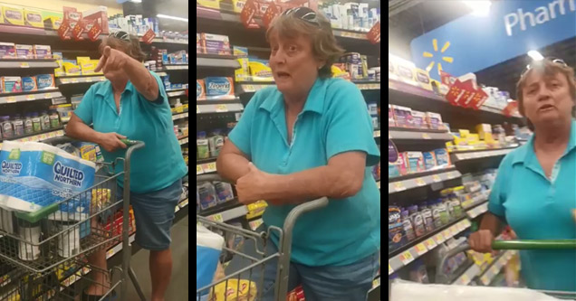older white woman screaming racial slurs in walmart