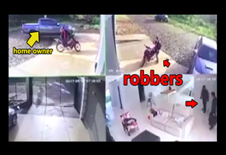 camera captures robbery in progress