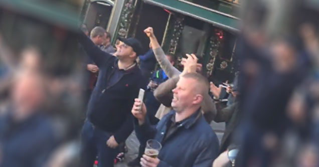 Manchester Football Hooligans Take To The Streets With New ISIS Chant