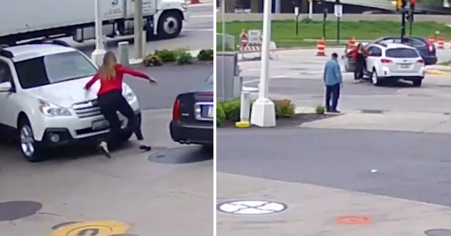 Woman Fights Off Car Jackers In Broad Daylight