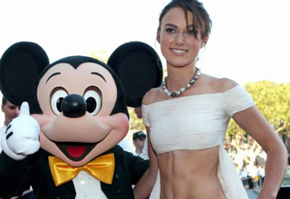hot girl with mickey mouse