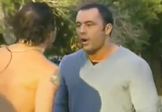 joe rogan hosting fear factor tussles with a contestant
