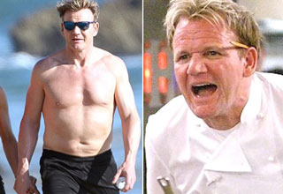 gordon ramsay yelling at a shirtless gordon ramsey