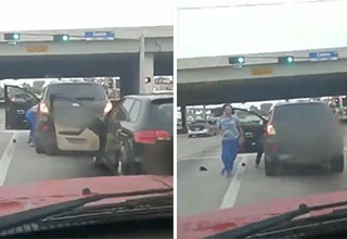 road rage incident goes from zero to funny fast