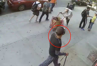 old man attacked by a stranger on the street