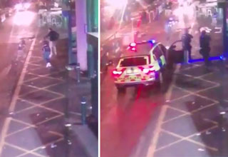cctv footage of the london attackers being gunned down